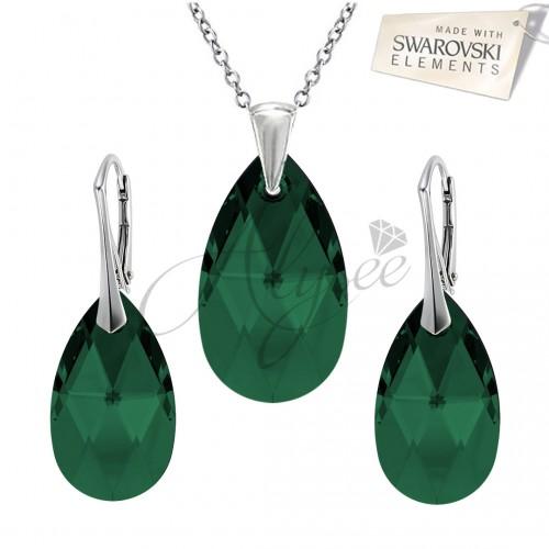 Set Pear Emerald