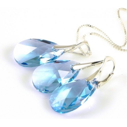 Set Aquamarine Pear