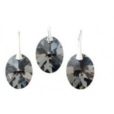 Set Silver Night Oval