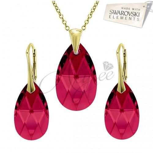 Set Pear Ruby - Gold