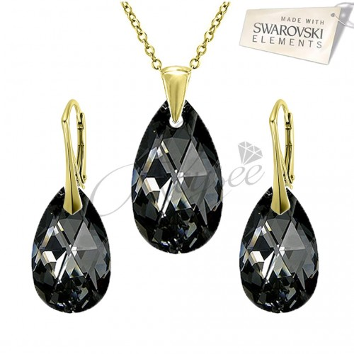 Set Pear Silver Night - Gold