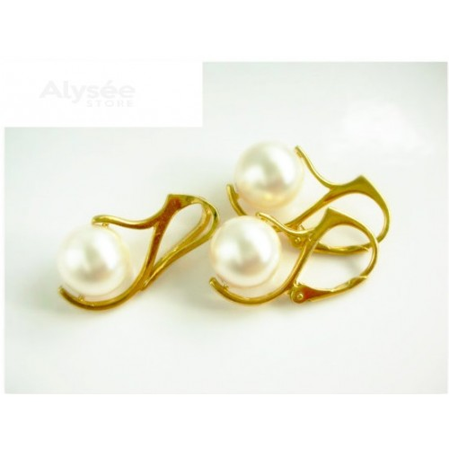 Set White Pearl - Gold