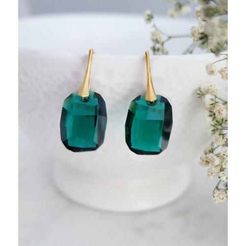 Cercei Emerald Graphic - Gold
