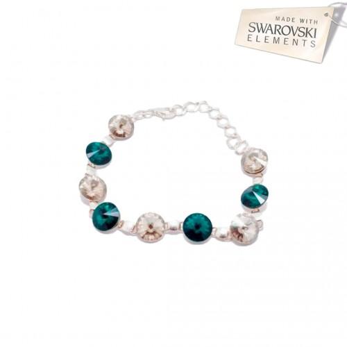 Bratara Rivoli Rivoli Crystal - Emerald
