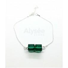 Bratara Emerald Bi-Cube
