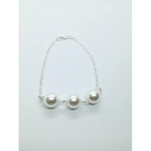 Bratara White Pearl 3
