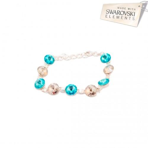 Bratara Rivoli Crystal - Turquoise