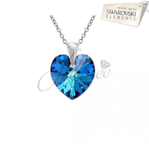 Pandantiv Heart Bermuda Blue
