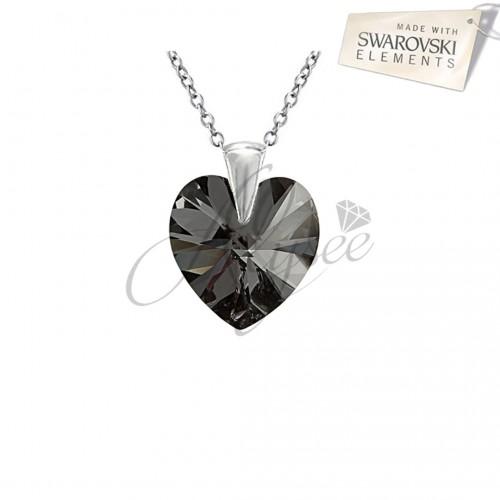 Pandantiv Heart Silver Night