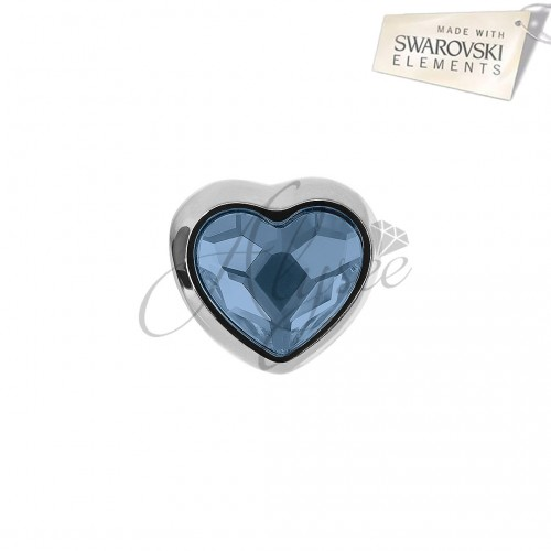 Charm Heart Denim Blue