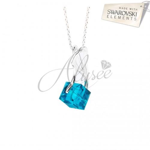 Pandantiv Cube Turquoise