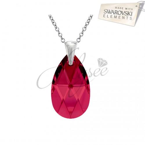 Pandantiv Pear Ruby
