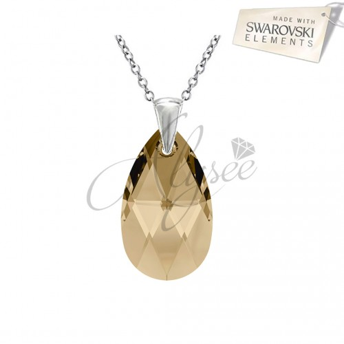 Pandantiv Pear Golden Shadow