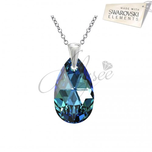 Pandantiv Pear Bermuda Blue