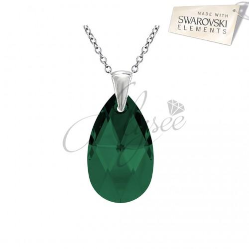 Pandantiv Pear Emerald