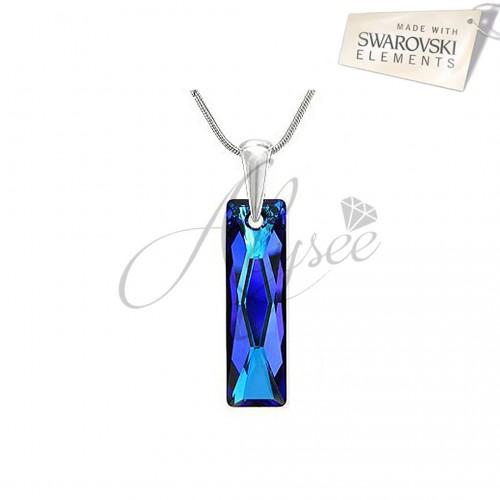Pandantiv Queen Baguette Bermuda Blue
