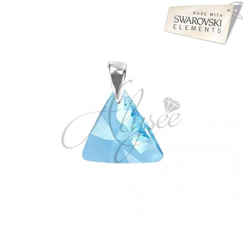 Pandantiv Triangle Aquamarine